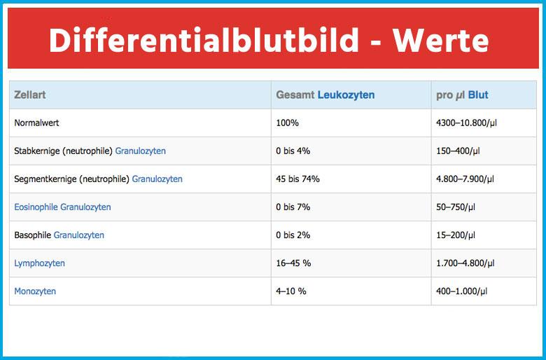 Differentialblutbild (Tabelle)