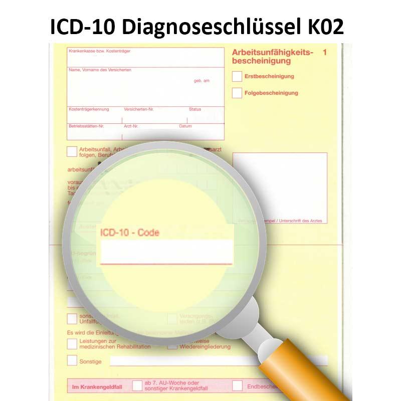 ICD-10 Diagnoseschlüssel K02