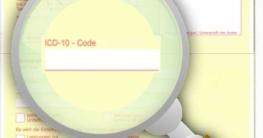 Arbeitsunfähigkeitsbescheinigung mit ICD-Code