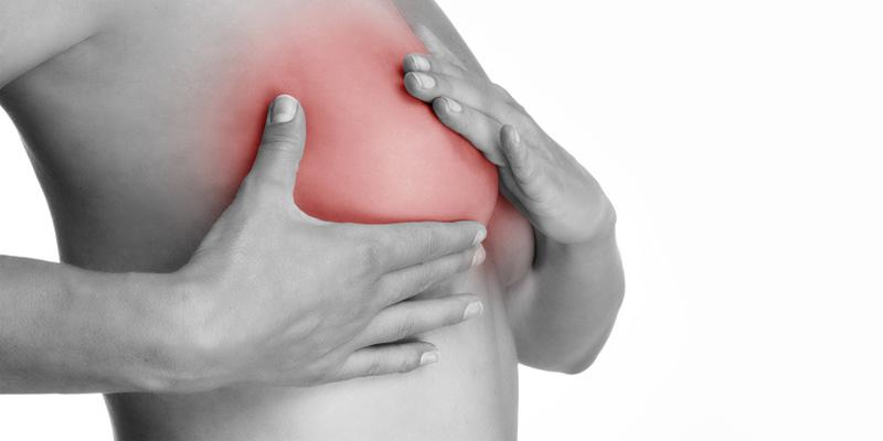 Der brust in knoten Verhärtung in