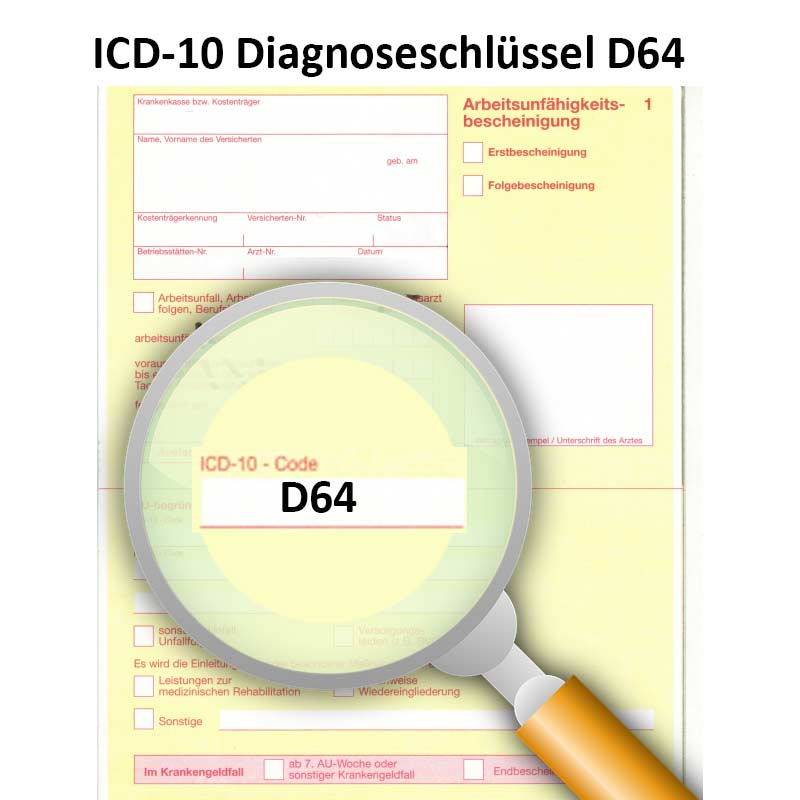 ICD-10 Diagnoseschlüssel D64